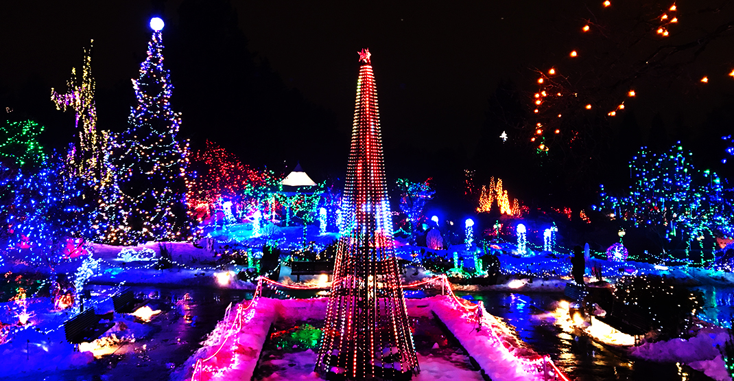 Over a million dazzling lights will shine at VanDusen Festival of Lights this winter