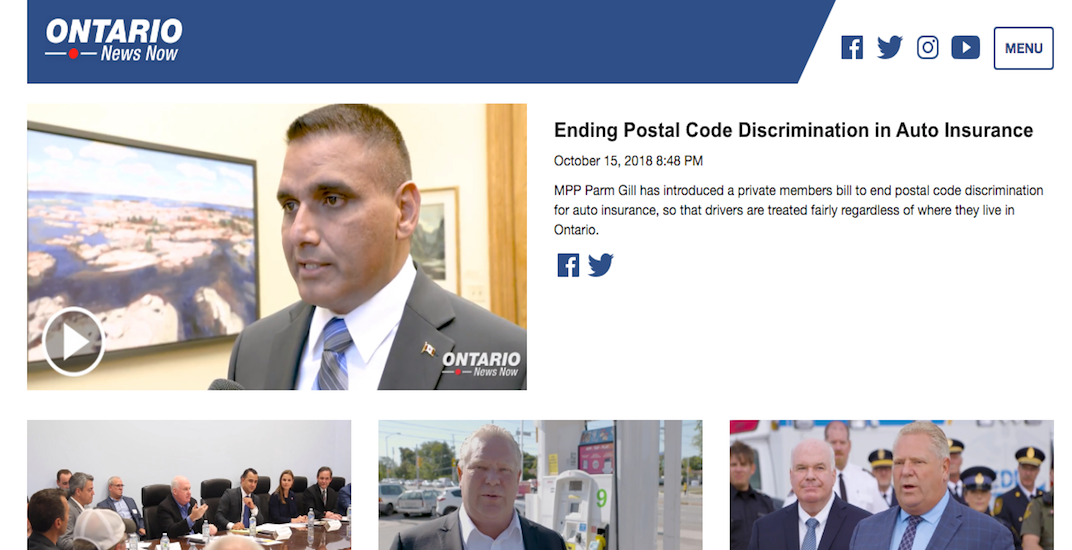 Doug Ford's government just launched its own news website