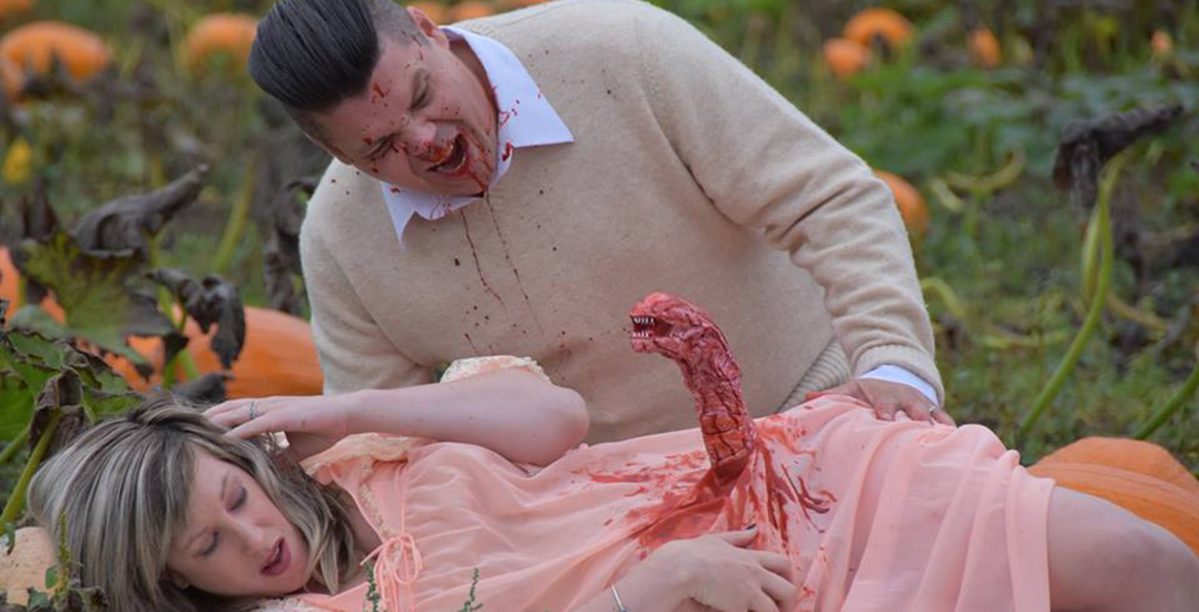 BC couple goes viral by recreating 'Alien' in maternity photo shoot