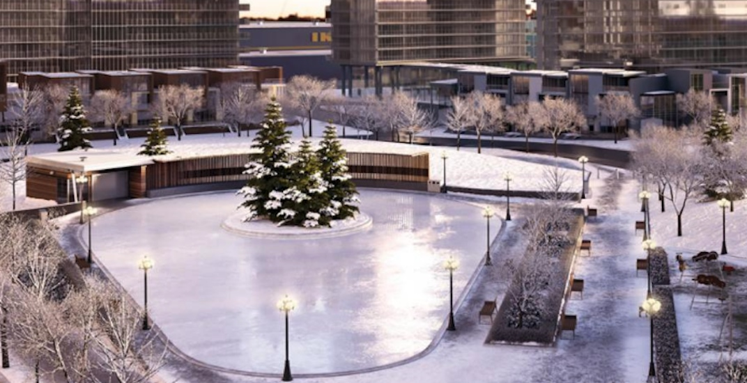 A new 8-acre Toronto park with an outdoor skating rink is opening next year