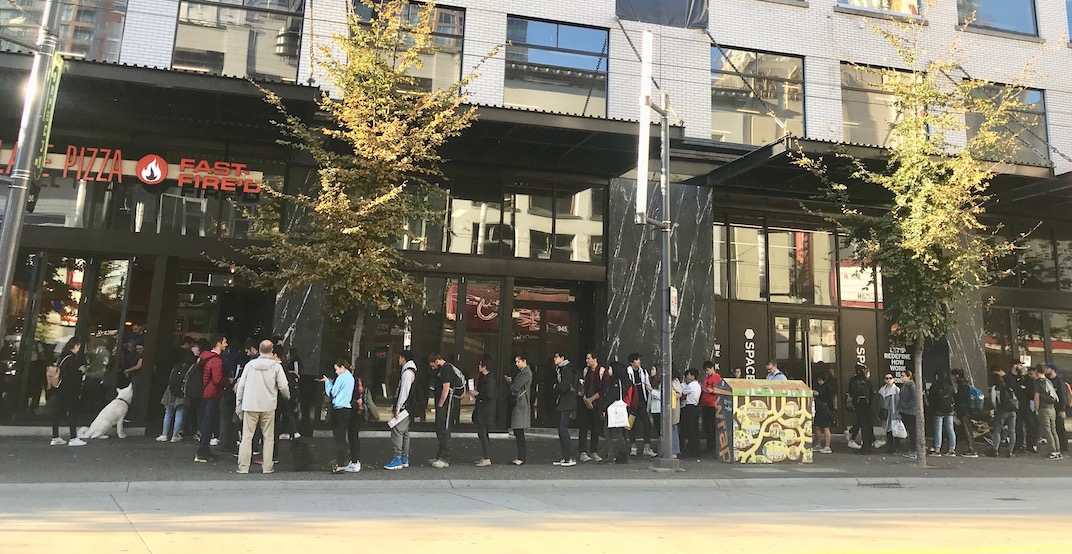Check out the HUGE line outside Vancouver's new pizza shop (PHOTOS)