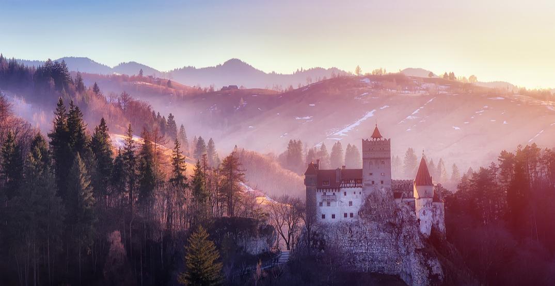 Dracula castle in transylvania romania