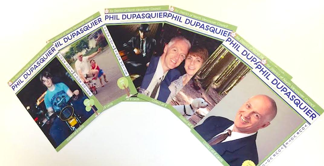 This North Vancouver council candidate is campaigning with his own trading cards