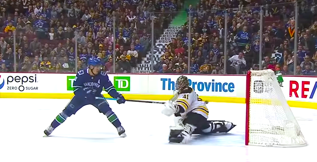 Horvat wins fight and scores gorgeous OT goal to beat Bruins (VIDEO)
