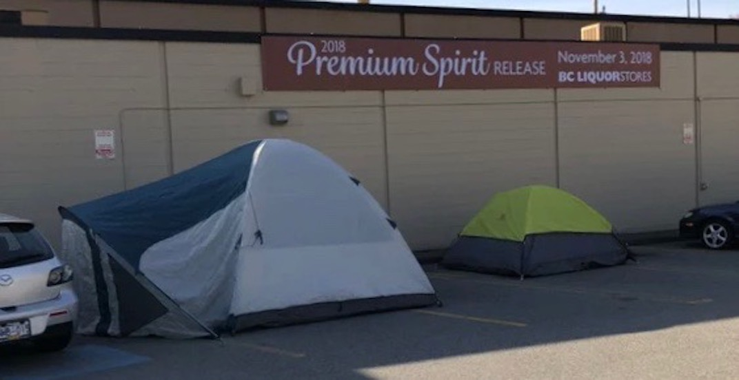 Campers waiting for rare whisky asked to leave BC Liquor Store parking lot