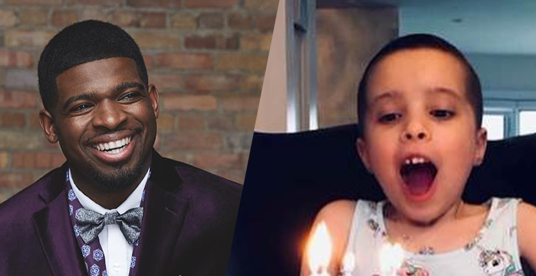 PK Subban calls on fans to help Montreal child find rare bone marrow match