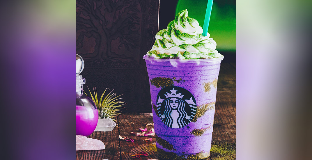 Starbucks Unveils 2018 Halloween-Themed Treats Featuring New Witch's Brew Frappuccino