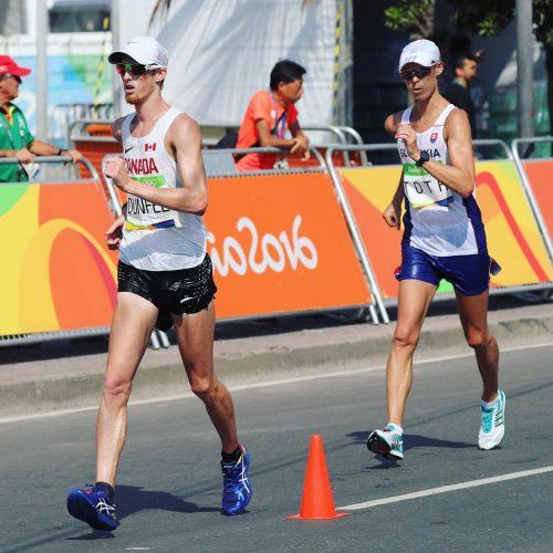 Canadian Race Walker Evan Dunfee