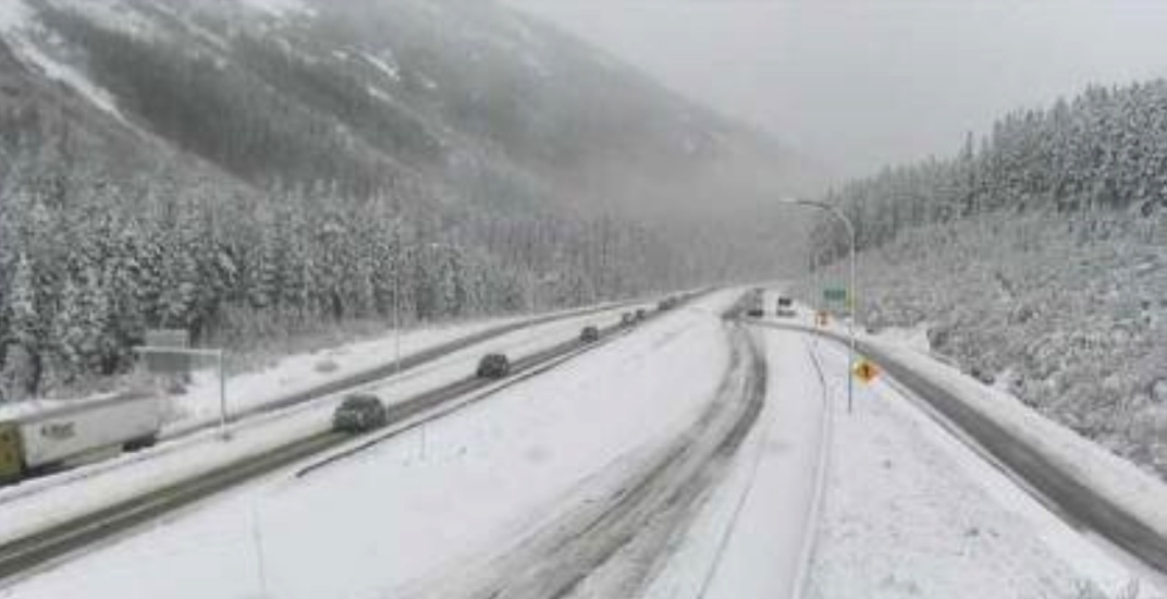 Snowy forecast on highways linking Metro Vancouver and BC Interior today
