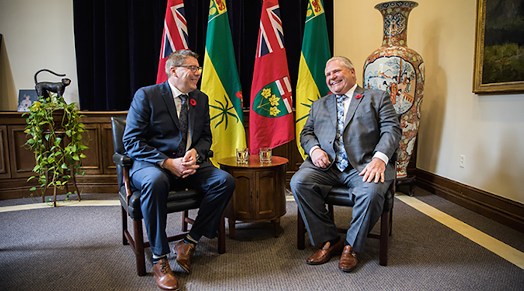 Ford and Saskatchewan premier join forces to fight 'massive job-killing carbon tax'