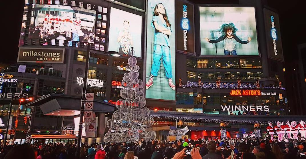 A 40-foot Christmas tree will light up Yonge-Dundas Square next month