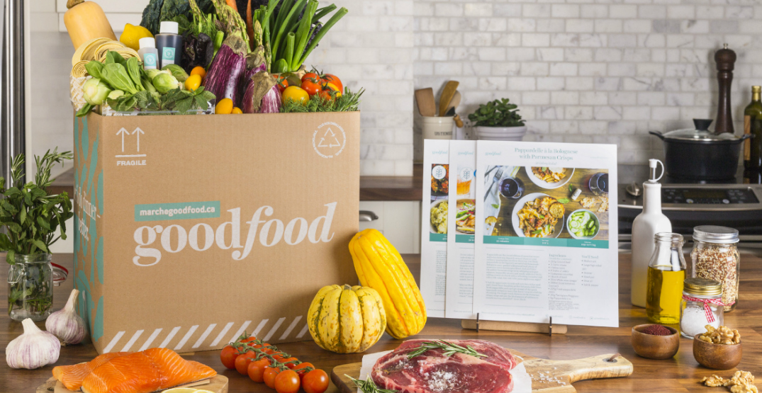 Goodfood box withingredients