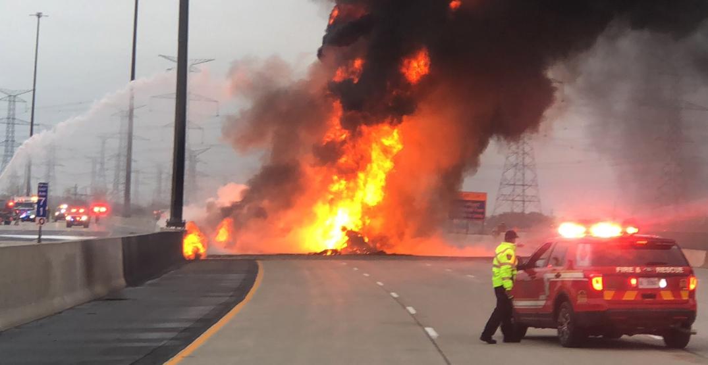 'Multiple fatalities' reported in fiery tanker crash on Toronto-area highway