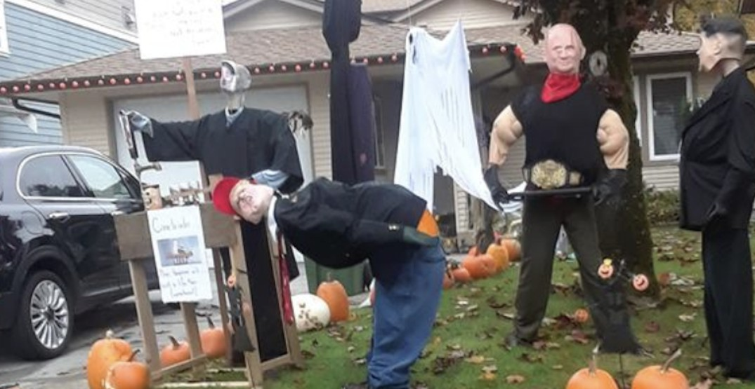 Richmond Halloween display depicts Trump in an 'inappropriate' position