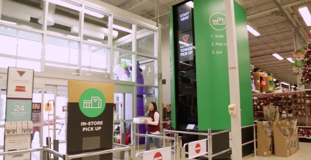 Canadian Tire installs robotic e-commerce pick-up towers in stores