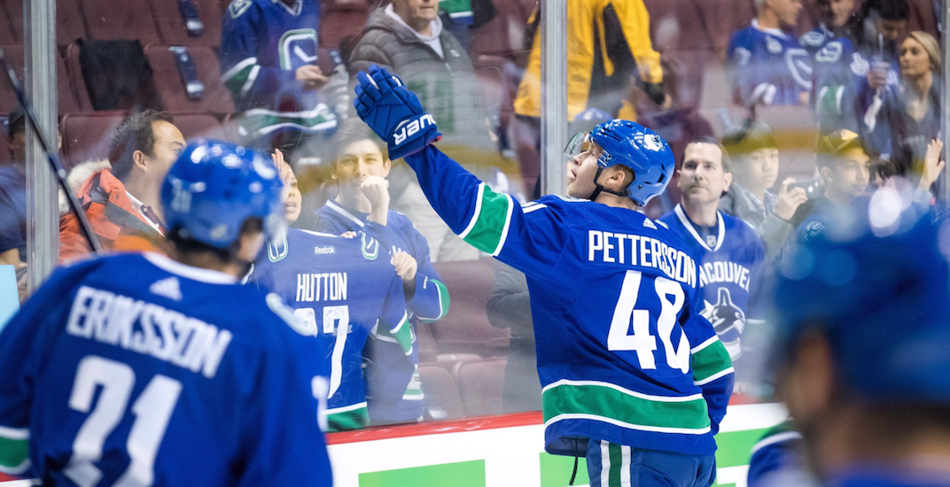 Elias Pettersson named NHL's Rookie of the Month for October