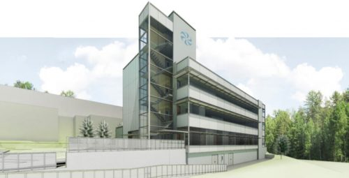 Artistic rendering of the Institute for Advanced Medical Isotopes at UBC. (Architecture 49)