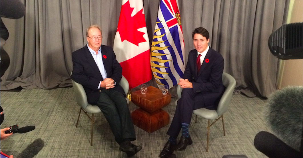 Surrey Mayor-elect Doug McCallum talks SkyTrain with Trudeau