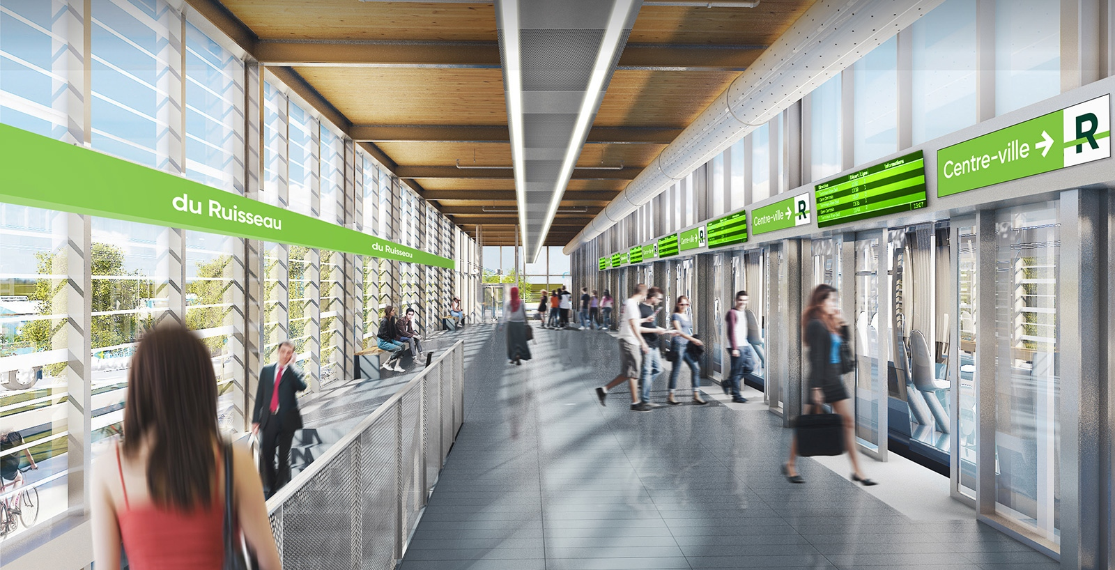 This is what Mont-Royal's REM electric train station will look like (RENDERINGS)