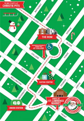 Details released about this year's Toronto Santa Claus ... on oolitic map, oats map, tell city map, gulf of antalya on a map, headless horseman map, splashin safari map, santa and his reindeer, north pole map, track santa map, christmas map,