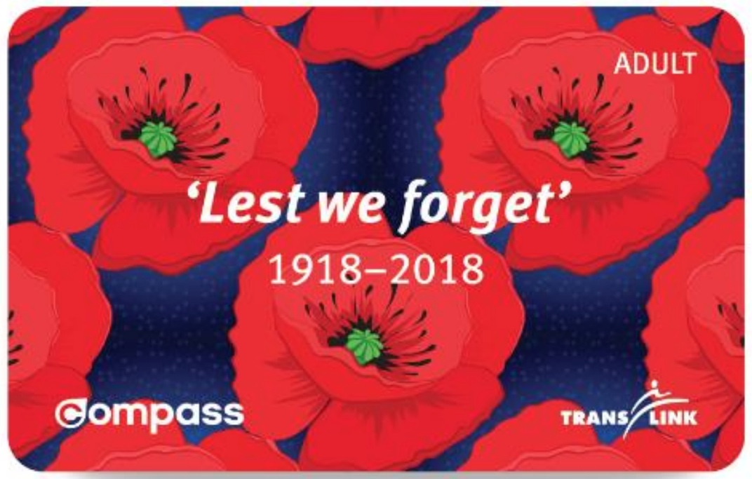 Remembrance Day Compass Card