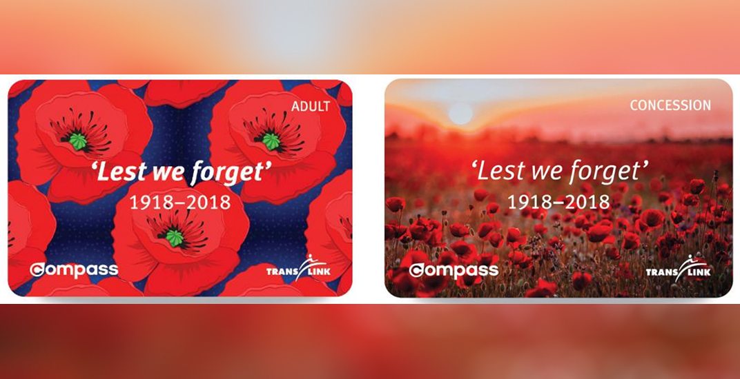 TransLink releases special-edition Compass Cards for Remembrance Day