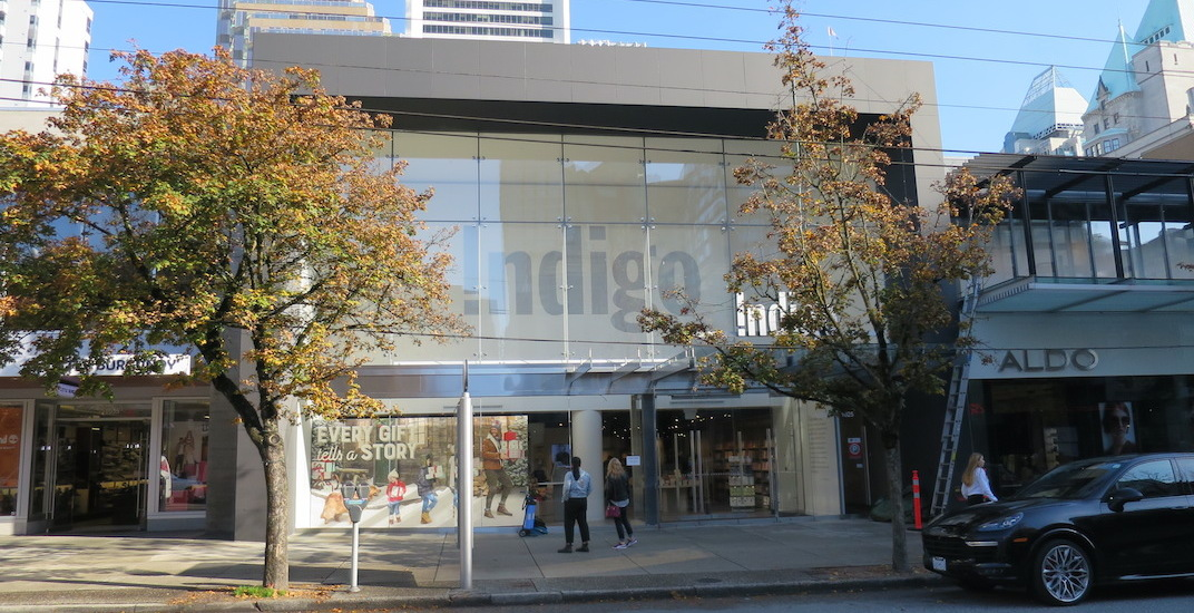 Indigo robson vancouver bookstore f
