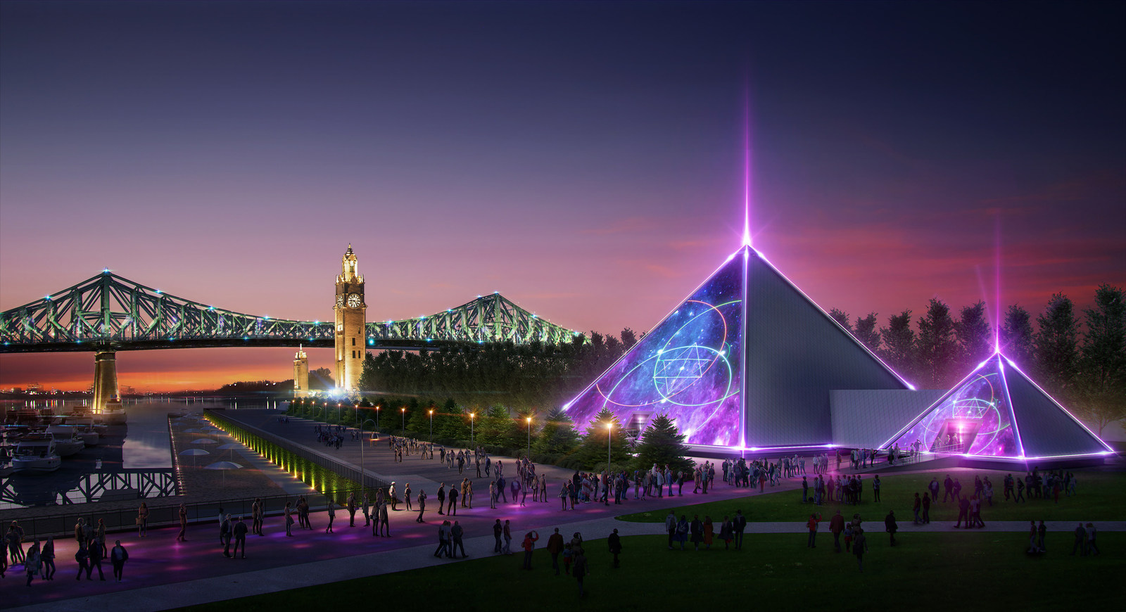 Cirque du Soleil founder is building a pyramid in Montreal's Old Port
