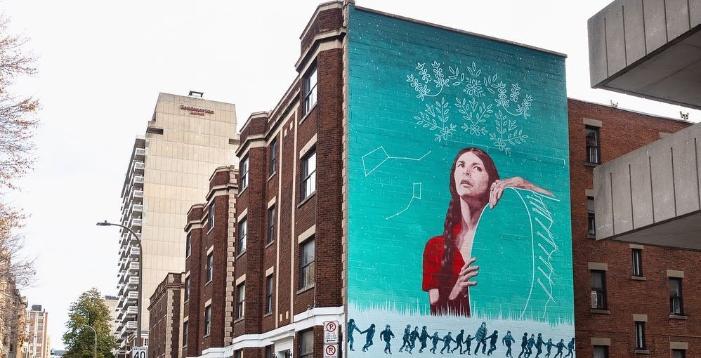 New mural honouring Indigenous activist unveiled in downtown Montreal (PHOTOS)