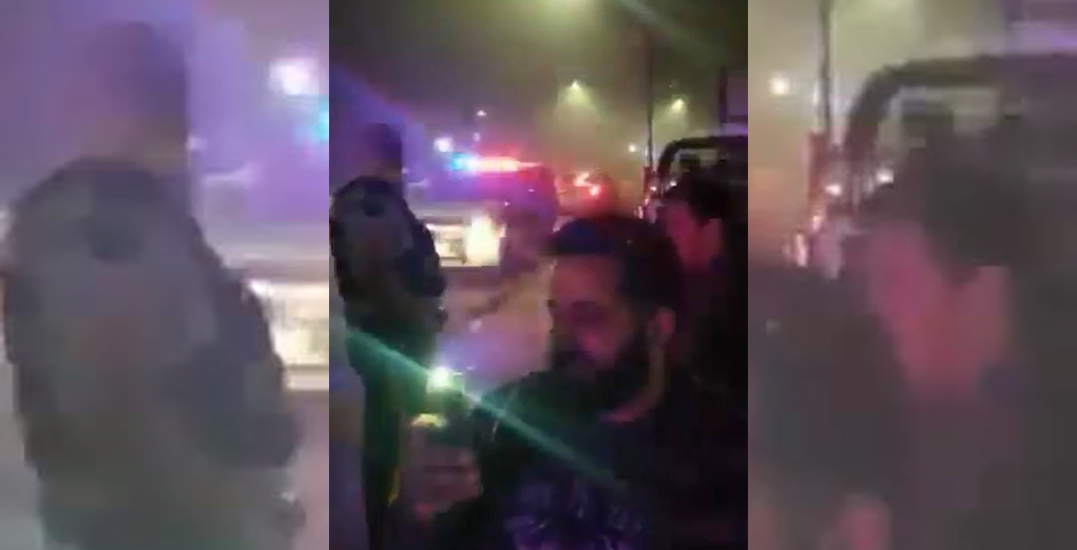 Group of men 'verbally abuse' Mounties in dispute over fireworks: VIDEO