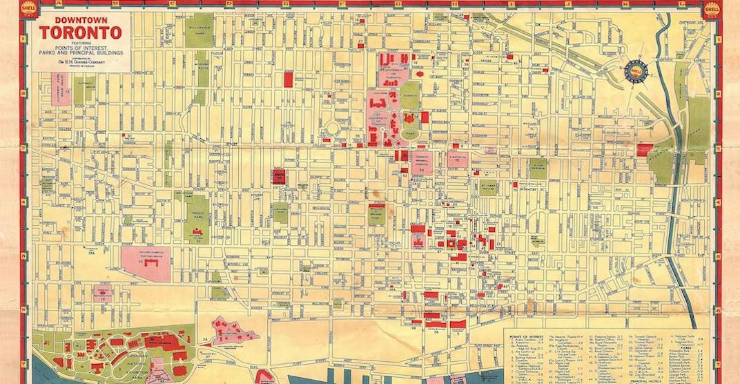 This is what downtown Toronto looked like in 1935 (MAP) | Daily Hive Downtown Toronto Map on
