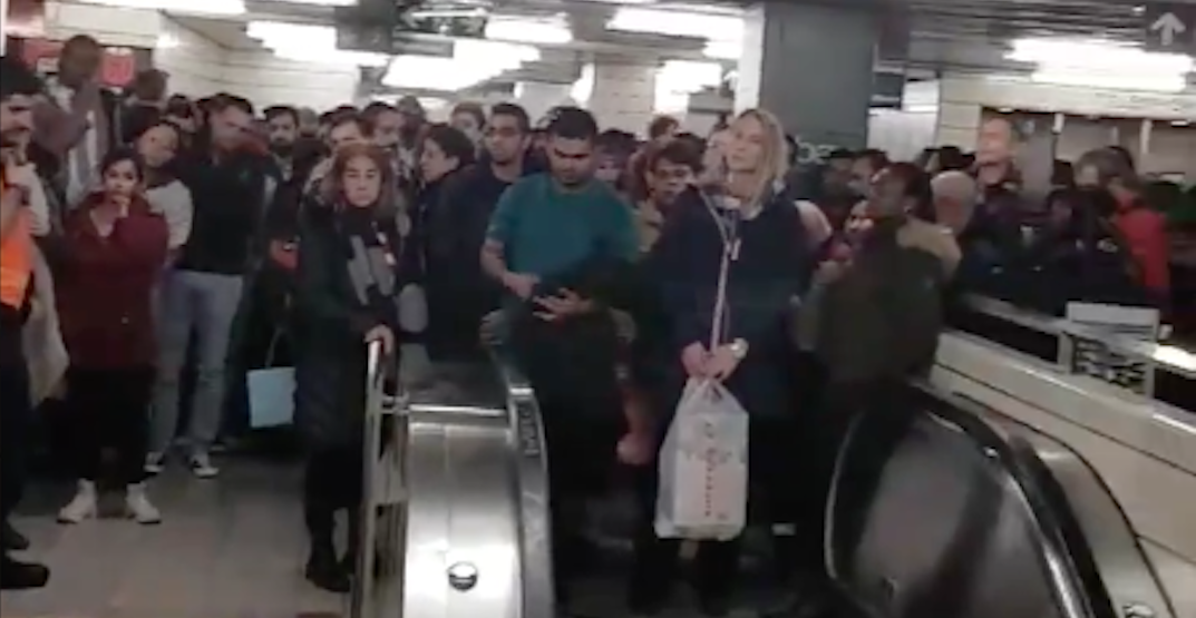 This is what a 10-minute TTC subway delay looks like (VIDEO)