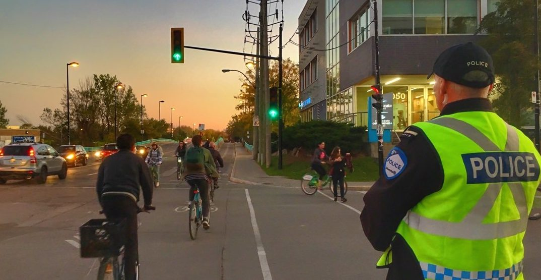 Cyclists in Montreal were ticketed 42 times more than in Toronto last year