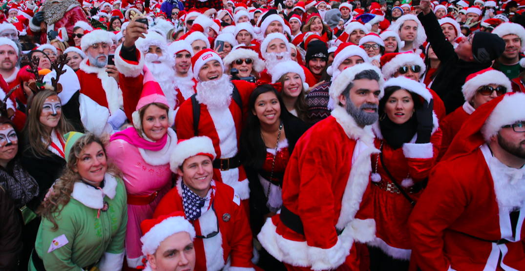 Be part of a giant Santa-themed bar crawl in Vancouver next month