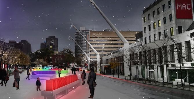 Place des Festivals turning into lit-up winter playground starting December 22