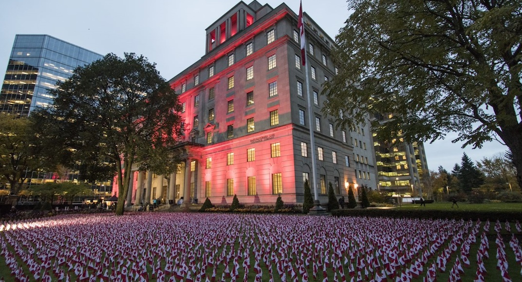 11,800 Canadian flags on display in Toronto to remember Canada's fallen heroes (PHOTOS)