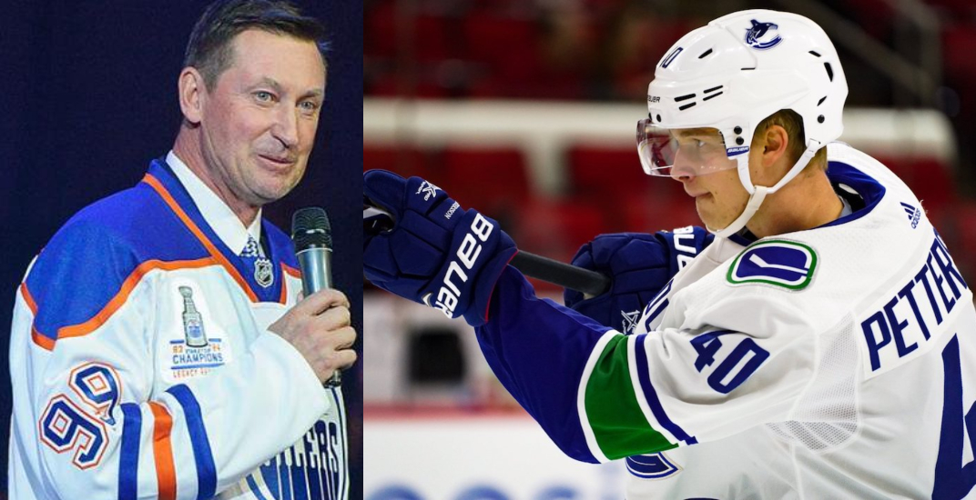 Gretzky compares Canucks rookie Elias Pettersson's game to his own