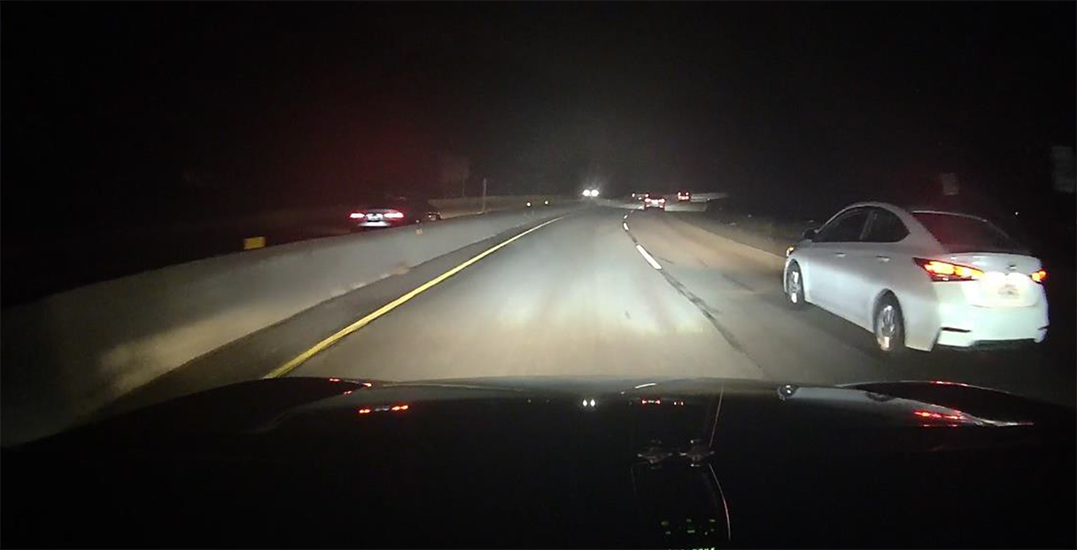 Audi driving wrong way on Trans-Canada Highway causes crash