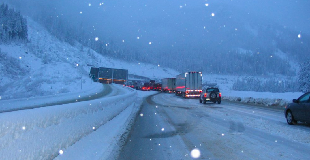 Heavy snowfall and delays expected for Coquihalla Highway all this week