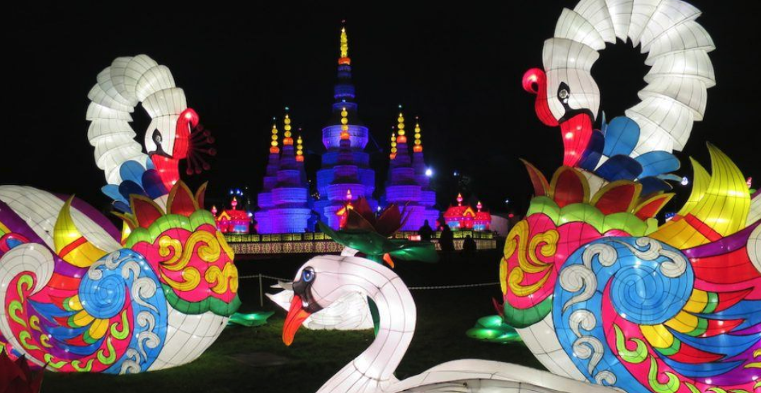 A huge Chinese Lantern Festival is happening in Vancouver this winter