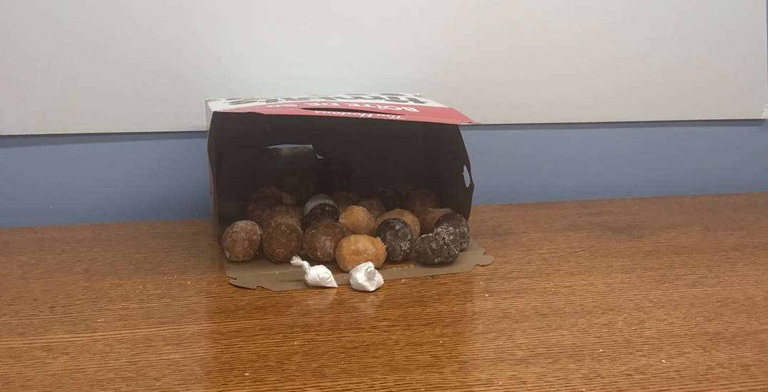 Canadian man arrested after trying to smuggle cocaine in box of Timbits