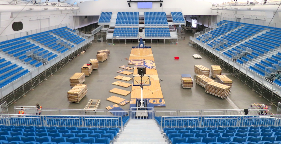 There's a new basketball stadium inside the Vancouver Convention Centre (PHOTOS)