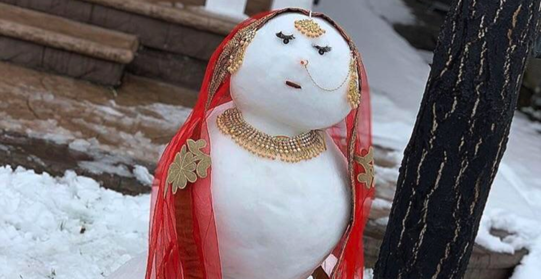 Move over Frosty, there's a new snowwoman in town (PHOTOS)