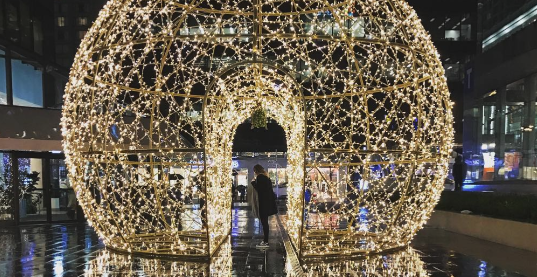 An enchanting light dome is shining bright for the holidays in Vancouver