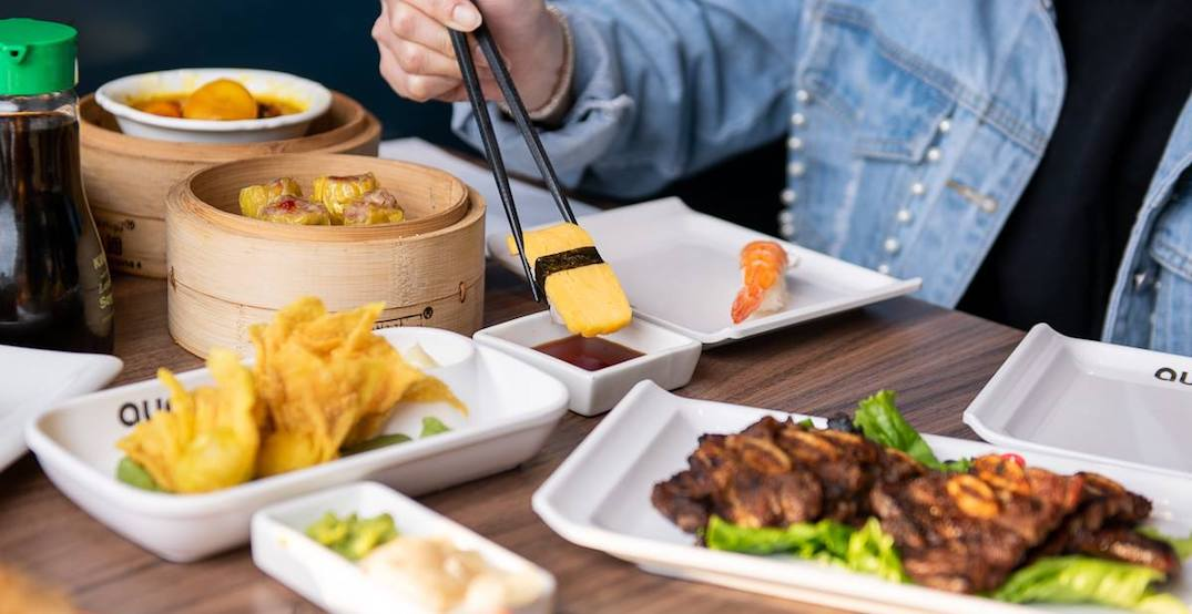You can get all-you-can-eat dim sum and sushi at this Toronto restaurant