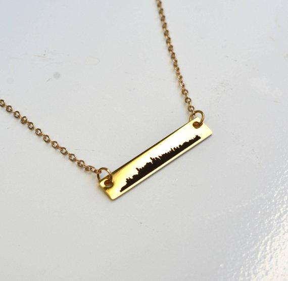 Vancouver skyline necklace/Etsy