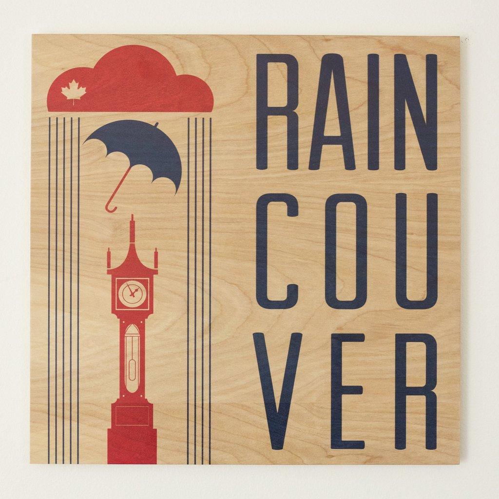 Raincouver coasters/Reclaimed Print