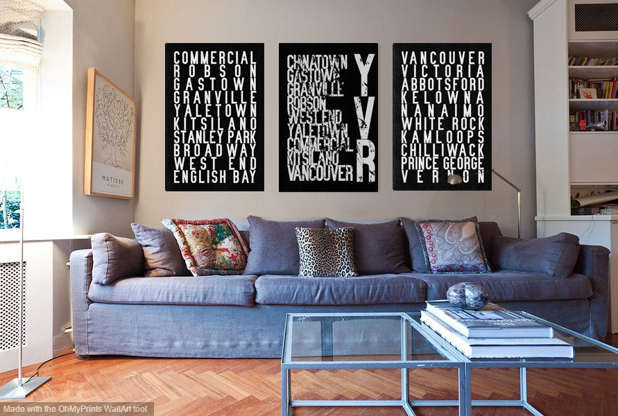 YVR subway art signs/Etsy