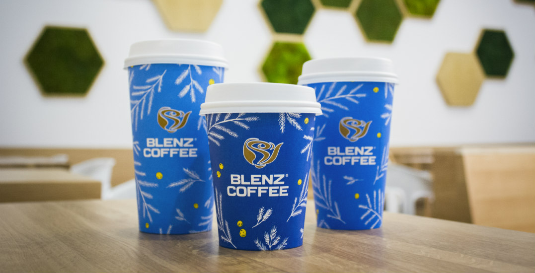 Enjoy a holiday beverage at the newly opened Blenz Coffee at Metropolis at Metrotown