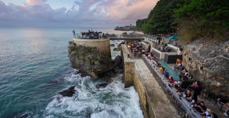 Rock bar at ayana resort in bali